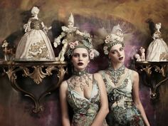 ❀ Flower Maiden Fantasy ❀ beautiful photography of women and flowers - Marie Antoinette inspired