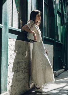 Top Avila   skirt Alaïs by Laure de Sagazan Bridal Wedding Dresses 8a992b5cd04f
