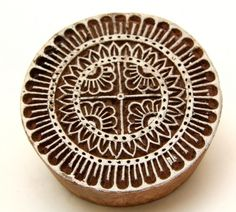 Small Round Henna Stamp Indian Wood Block Printing Stamps