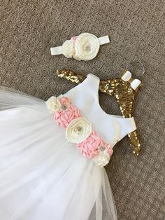 Floral baby girl dress Girls baptism Dress Baby girl christening dress  Satin baby dress white baby gown ivory baby gown first birthday dress b58baa344992
