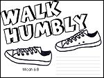 Kid's Sunday School Activities:Walk Humbly- a lesson from Micah