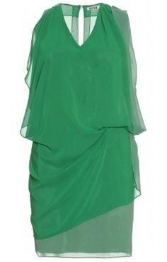 f21309634b1e ACNE Mallory Draped Dress Emerald Dresses, Dress Hire, Trumpet Skirt,  Draped Dress,