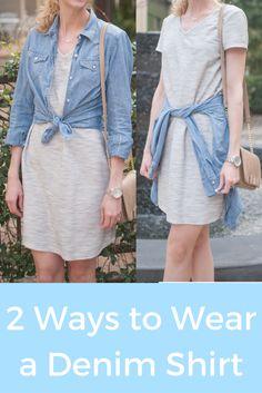 2 ways to wear a den