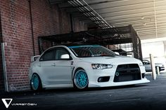Varrstoen ES1 wheels Tiffany blue centers
