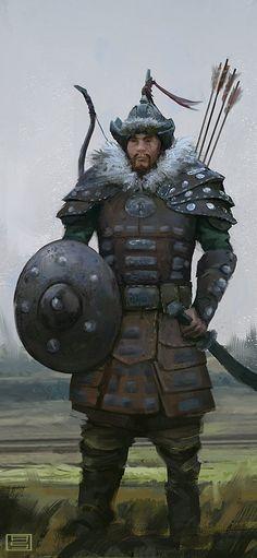 Marco Polo - mongol archer, Asim Steckel on ArtStation at https://www.artstation.com/artwork/marco-polo-mongol-archer