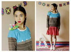 Sweater Atacama ₪ R I T U A L ₪ Towanda! Otoño/Invierno 2015 #knitwear #origami #sweater