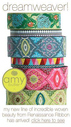 Amy Butler....woven Renaissance Ribbon
