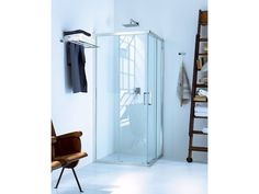 Cabine de douche d'angle en verre � portes coulissantes NEW CLAIRE - 1 Collection New Claire by INDA�