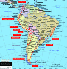 My South America route