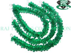 AAA Quality Green Onyx Faceted Drops Beads, to mm, 18 cm, 84 pieces, Semiprecious Gemstone Beads Semi Precious Beads, Semi Precious Gemstones, Bead Store, Green Onyx, Gemstone Beads, Beaded Necklace, Unique Jewelry, Beadwork, Handmade