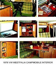 1978 VW WESTFALIA CAMPMOBILE ~ INTERIOR ~ MAGNET | eBay