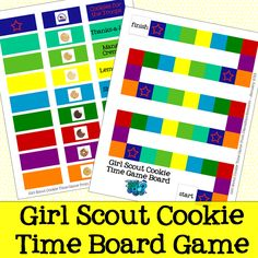 Girl Scout Cookie Time Board Game FREE Printable from DianaRambles.com @FreeStyleMama #cookies