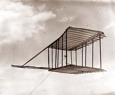Glider Test Flight by the Wright Brothers in 1900