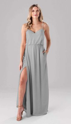 Shop the lovely Lauren bridesmaid dress from Kennedy Blue. The soft chiffon fabric and v-neck make this stylish dress one that will appeal to all of your attendants. Be sure to order yours today! Summer Bridesmaid Dresses, Affordable Bridesmaid Dresses, Blue Bridesmaids, Bridesmaid Ideas, Cute Short Dresses, Simple Dresses, French Lilac, Chiffon Fabric, Dress Backs