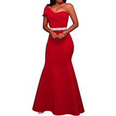 MuCoo Women s Sexy Off The Shoulder Oversized Bow Applique Evening Gown  Party Maxi Dress Party Gowns be94e1ac038f