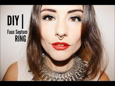 Learn how to make a faux septum ring in this video tutorial.