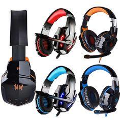 Gaming Headset Headphone Bluetooth USB & Audio Jack with Mic LED Light Earphone #EACH