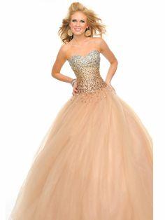 Sparkly, Ombre Corset Dress
