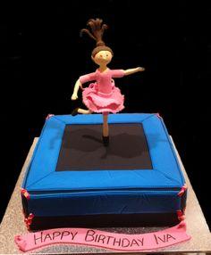 Trampoline Birthday Cake - by Nada's Cakes Canberra