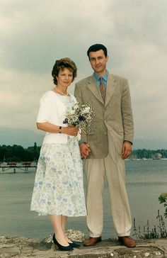 Principesa Mostenitoare Margareta si Principele Radu casatoria civila Versoix 24 iulie 1996 ©Alain Morvan