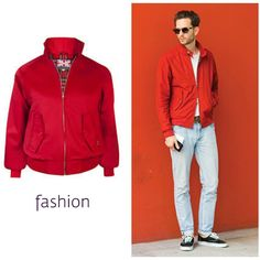 Harrington Jackets in a classic cherry Red are an amazing addition to add to your wardrobe #blackpelicanapparel #fashionblogger #streetstyle #streetwear #mensfashion #mensstyle #harrington
