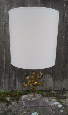 Gilded Floral Lamp On Marble Base - £235 — in | da | cottage