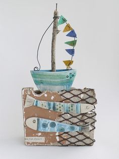 Rain then showers, Boat - Shirley Vauvelle