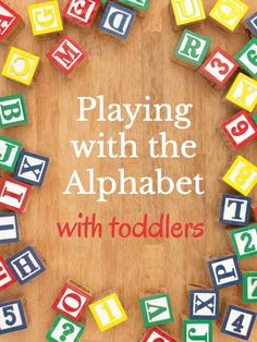 Learning the alphabet activities for toddlers to help learn the ABCs. via @growingbbb