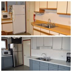 Painted Laminate Cupboards My Makeovers Cupboard Kitchens House Diy Update Kitchen Cabinets Reface Painting Ideas