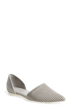 Vince 'Nina 2' Perforated Leather D'Orsay Flat (Women) available at #Nordstrom