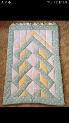 Table Runner And Placemats, Table Runners, Patch Quilt, Quilt Blocks, Handmade Crafts, Diy And Crafts, Applique Quilt Patterns, Islamic Prayer, Quilt Border