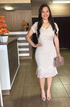 Floratta Modas - Moda Evangélica - A Loja da Mulher Virtuosa Only Girl, Business Attire, Western Wear, Modest Fashion, Frocks, Trendy Outfits, Formal Dresses, My Style, Womens Fashion