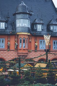 The Christmas market in the medieval UNESCO city of Goslar in Lower Saxony, Germany