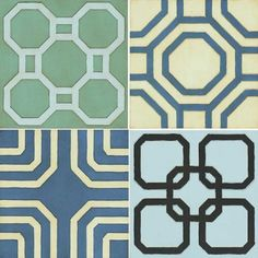 """Paragon Abstracts by Unknown Contemporary Art (Set of 4) - 12"""" x 12"""" - 9882"""