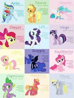 My Little Pony horoscope.  Hmmm, I'm a Rarity.  uh.  Yup.  My alternate personality has always been a Scorpio, and that describes her pretty darn well.  :P