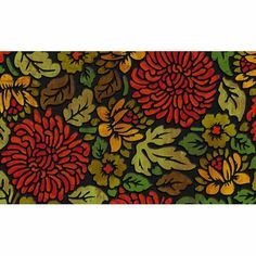 Apache Mills 60-717-1050 November Bloom Doormat, 18-Inch by 30-Inch by Apache Mills. $23.97. Recycled rubber base with flock; non-slip backing. Available in November bloom design. Measures 18-inch length by 30-inch width. Construction of the surface is designed to trap debris. This welcome door mat is a masterpiece of form and function. This welcome door mat is a masterpiece of form and function. Features exciting full color design with built-in channels to provide a tw...