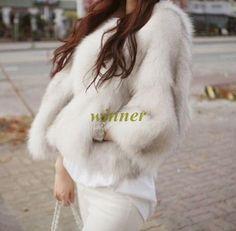 Jacket Coat Outwear Faux Fox Fur Women's Long Sleece Short Coat Outwear Fashion