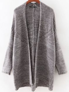 Shop Grey Bat Sleeve Long Cardigan online. SheIn offers Grey Bat Sleeve Long Cardigan & more to fit your…