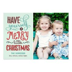 Adorable Type Christmas Photo Card Personalized Invitations http://www.zazzle.com/adorable_type_christmas_photo_card_invitation-161970522018594086?printquality=4color&rf=238675983783752015