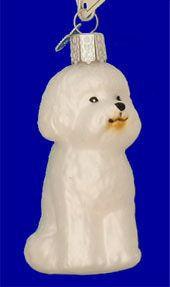 Bichon Frise Glass Ornament by Old World Christmas 8.99