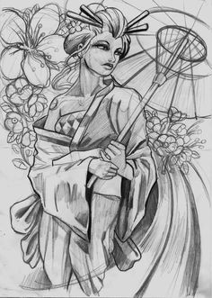 Geisha Tattoo – Geisha Tattoo Sketch