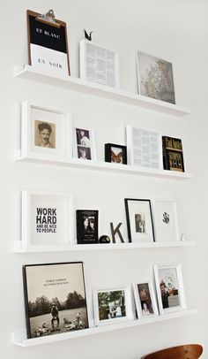 I love ideas for placing pictures and paintings. This seems a simple, yet beautiful idea.