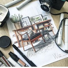 Скетч от @k0ala1 #sketch #sketches #interior #design #concept #sketching #perspective #interiorsketch #interiordesign #перспектива #интерьер #скетчинг #скетч #дизайн #маркеры #скетчингмаркерами