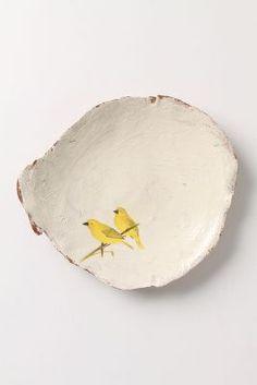 Yellow Birds - going on one of my plates Ceramic Clay, Ceramic Plates, Ceramic Pottery, Clay Plates, Ceramic Birds, Pottery Plates, Cozinha Shabby Chic, Sculptures Céramiques, Bird Sculpture
