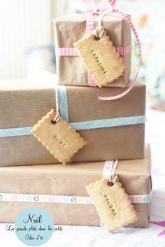 Etiquettes cadeaux en petits sablés, à dévorer!
