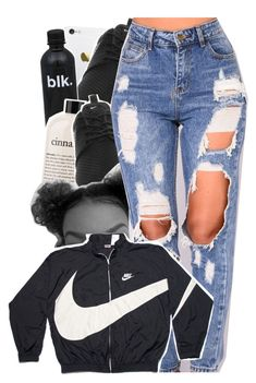 """nike windbreaker contest"" by tropic-baby ❤ liked on Polyvore featuring NIKE and philosophy"