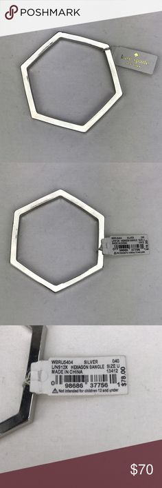 Kate Spade Hexagon Bangle - Silver Purchased and never worn. New with tags. Please let me know if you have any questions! kate spade Jewelry Bracelets