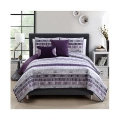 Plum Adelaide 5 Piece Quilt Set Queen Quilt Set -- Awesome products selected by Anna Churchill Purple Green Bedrooms, Bedroom Green, Master Bedroom, Blue Bedding Sets, King Size Bedding Sets, Quilt Bedding, Bedding Shop, Best King Size Bed, Quilted Curtains