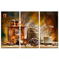 FOOD /& DRINK SPICE PEPPER Canvas Framed Printed Wall Art 72 ~ 4 Panels
