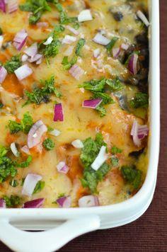 Chicken Spinach Enchilada Casserole